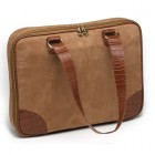 Dámská taška na notebook Mango Tango Suede Slimline camel