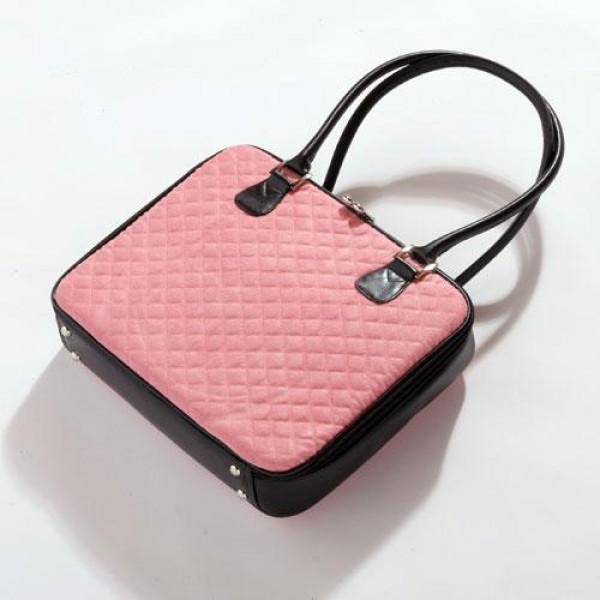 4b85a086d90 Dámská taška na notebook Mango Tango Quilt Suede růžová