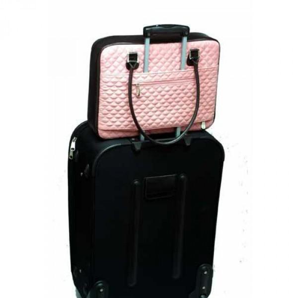 1e422ee2e4 ... Dámská taška na notebook Mango Tango Quilt Suede růžová ...